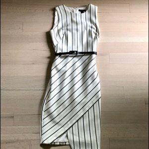 🆕 NWT White House Black Market stripe dress sz 6